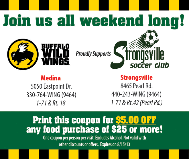 photograph about Buffalo Wild Wings Printable Coupons known as Sponsor: Buffalo Wild Wings adidas Countrywide Football Showcase